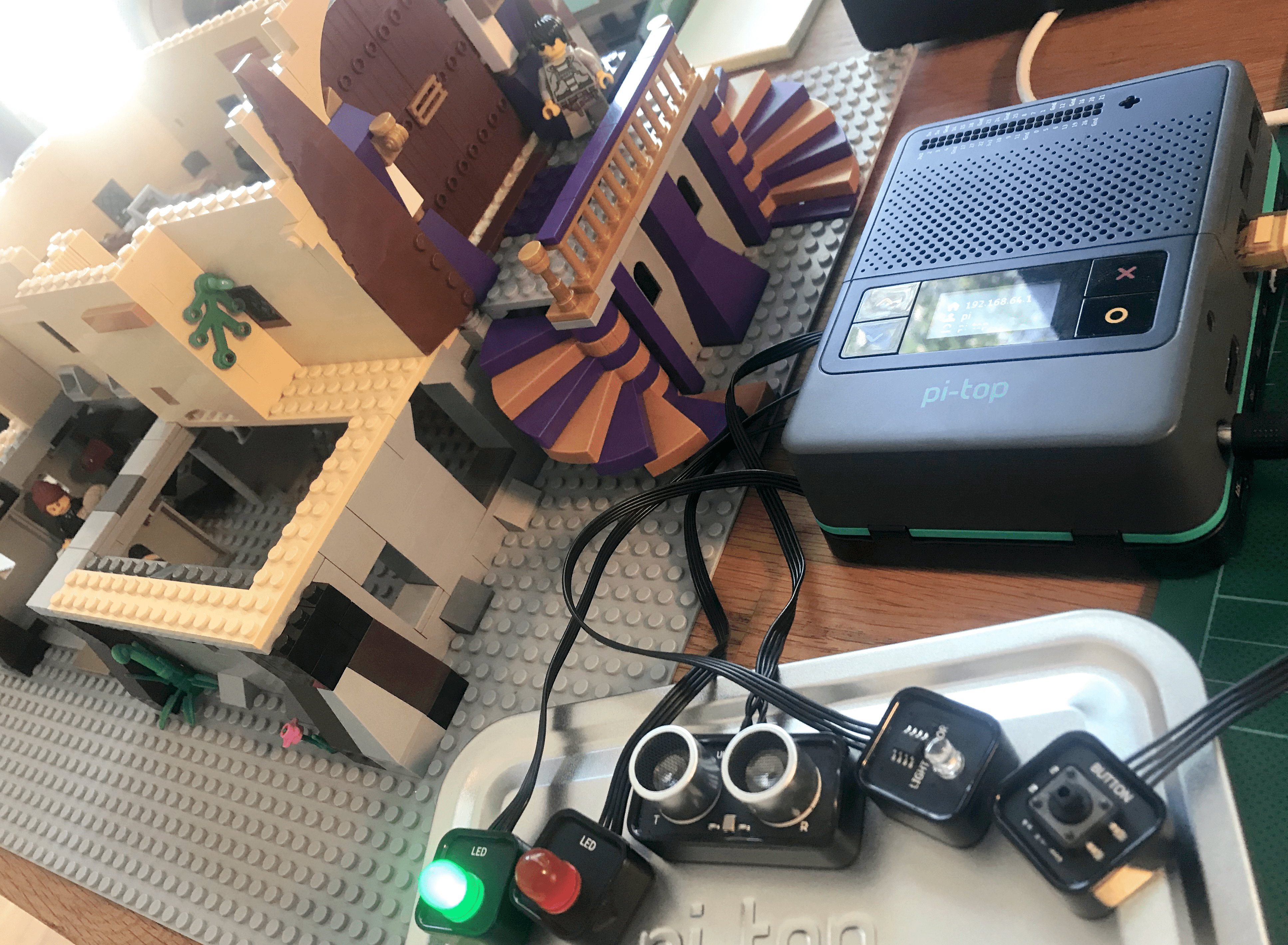INTRUDER! Using code, pi-top [4] and LEGO in your club or classroom