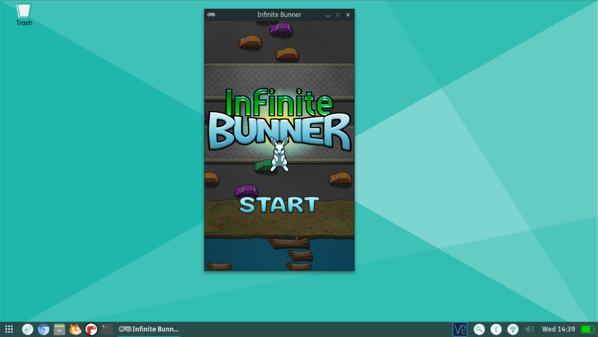 """Infinite Bunner is a """"Frogger-style"""" street-crossing game built in Python. It is one of the games included with the Code the Classics package."""