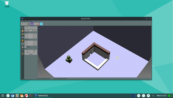 Goxel is a voxel-based 3D modeling tool that lets users build shapes using 3D blocks, similar to Minecraft